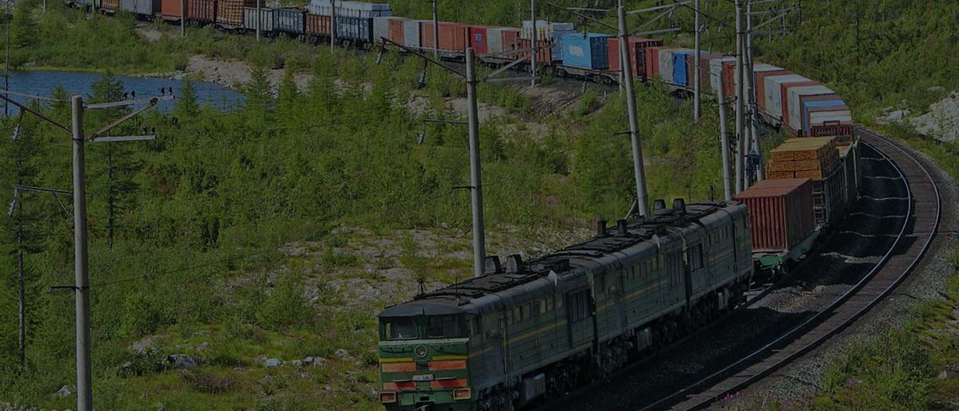 Europe-China container railway transport via Trans-Siberian Railway