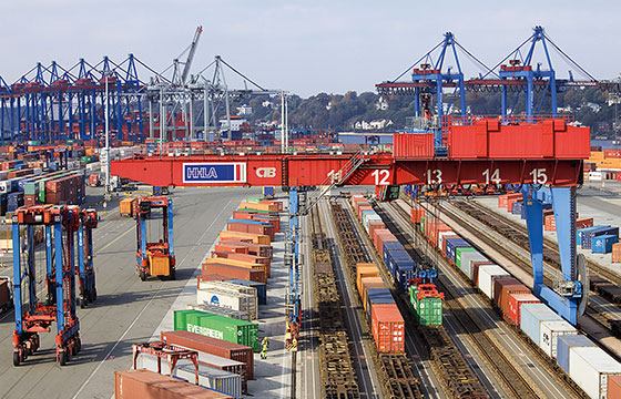 Container railway and intermodal transportation